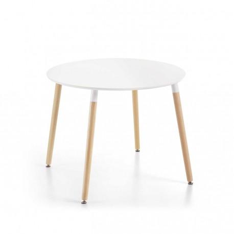 Mesa redonda lacado blanco