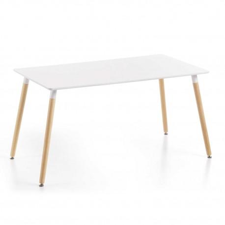 Mesa rectangular lacado blanco