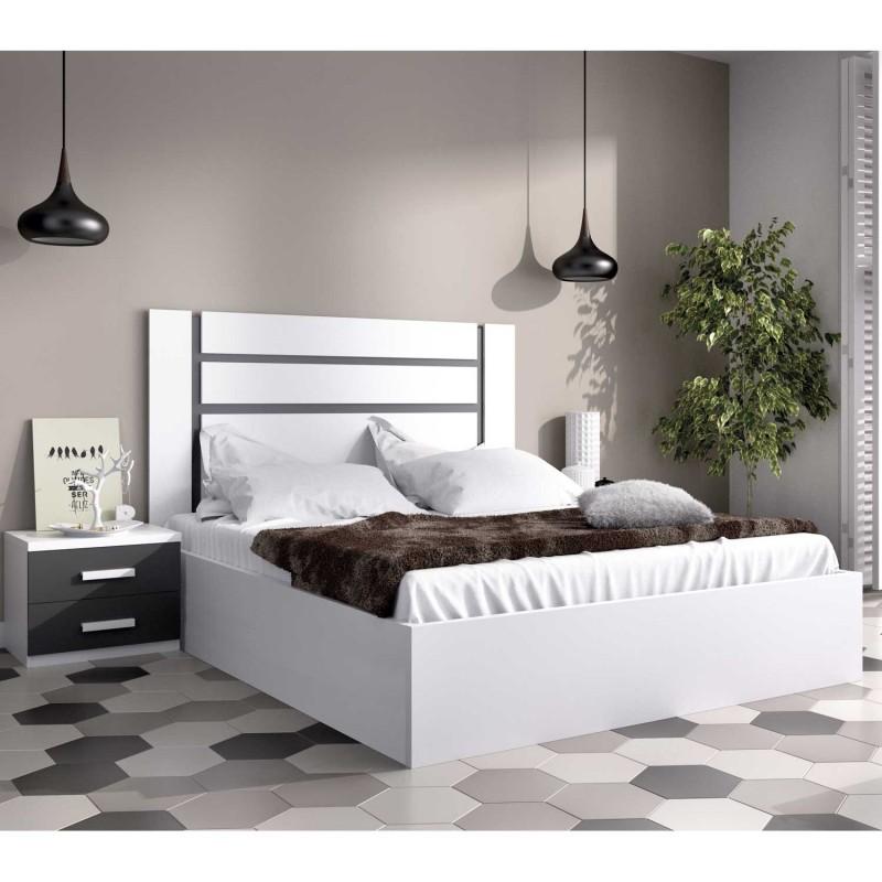 dormitorio moderno completo con cabezal ba era elevable y