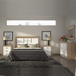 Dormitorio con cabecero y mesitas (Comp. Opcionales)