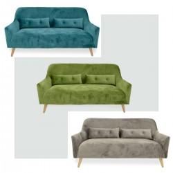 Sofá tapizado estilo nórdico