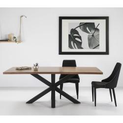 Mesa en madera y acero (Varios Acabados)