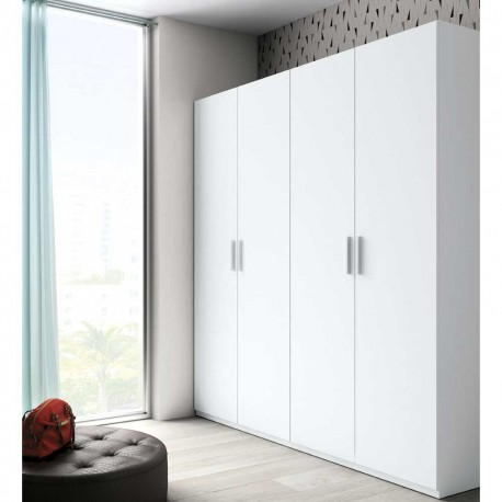 Armario de cuatro puertas en color blanco - Armario dormitorio blanco ...