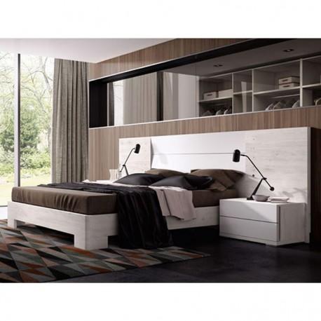 Cabezal con luces (Complementos dormitorio opcionales)