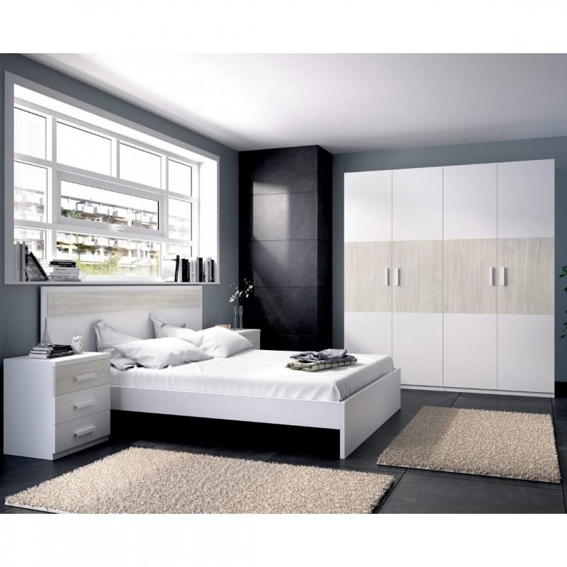 dormitorio estilo moderno con cabezal ba era cama