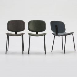 Pack sillas piél sintética y pata metálica (Varios colores)