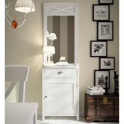 Recibidor con puerta y cajón más espejo