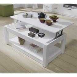 Mesa de Centro Elevable color blanco