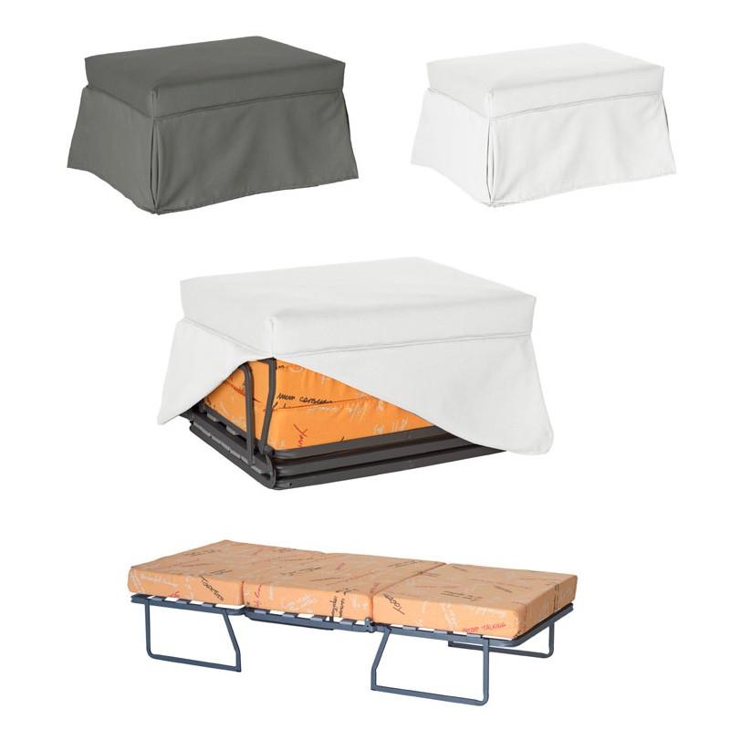 Puff convertible en cama perfecto para invitados o ahorrar espacio - Puff convertible cama ...