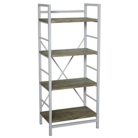 Estantería de cuatro estantes (blanca o negra)