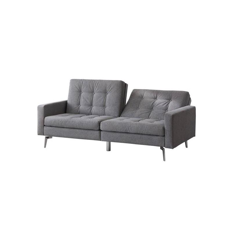 Sof cama nemo estilo clic clac tapizado en gris env o gratis a casa - Tela tapizado sofa ...