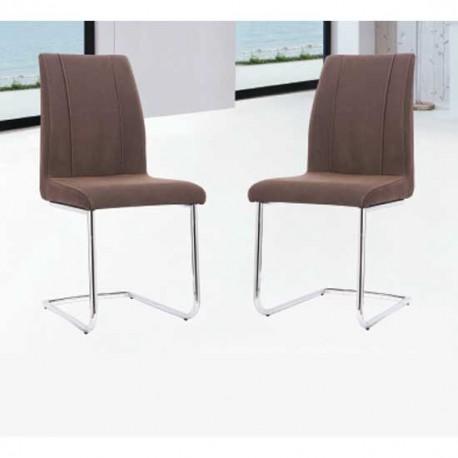 Pack 4 sillas estructura metálica y ante