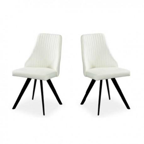 Conjunto 4 sillas con estructura metal y Ante Negro