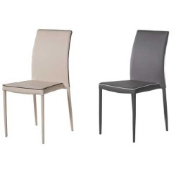 Pack 4 sillas con estructura metal Gris o Visón