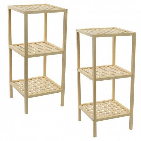 Juego estanterías de madera
