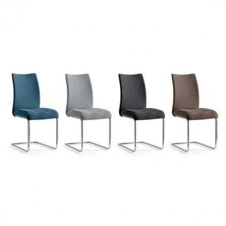 Pack 4 sillas con estructura en cromo y tapizado en Chenilla