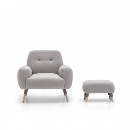 Butaca tapizada sentada extra confort de muelles