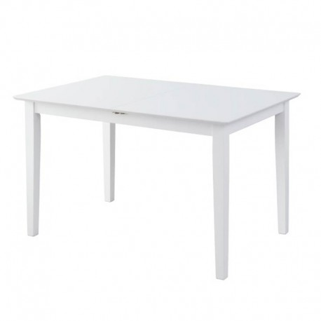 Mesa extensible en blanco mate