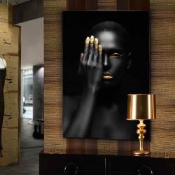 Fotografía impresa, montada en cristal templado