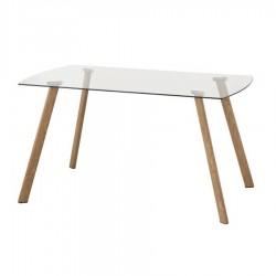 Mesa de comedor con tapa de crista