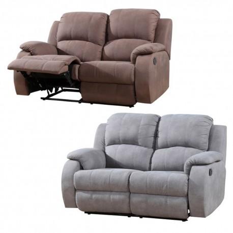 Sofá dos plazas (Tapizado gris o marrón)