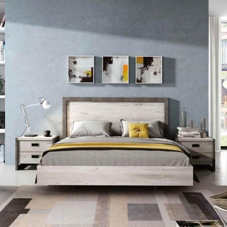 Dormitorio completo en color azahar y cemento