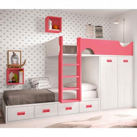Litera con compacto y armario block
