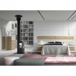Dormitorio Moderno con cabezal y mesitas