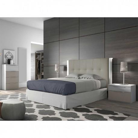 Dormitorio Moderno en tonos Visón y Blanco