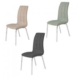 Cuatro sillas tapizadas (varios colores)