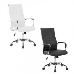 Silla oficina tapizada blanco o negro