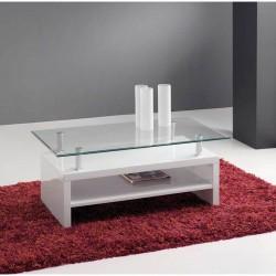 Mesa centro lacada en blanco
