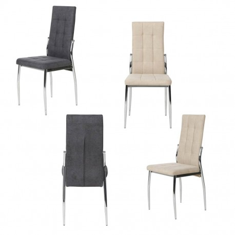 Conjunto 6 sillas tapizadas (gris o beige)