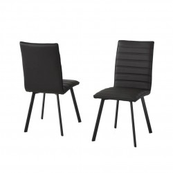 Conjunto cuatro sillas tapizadas
