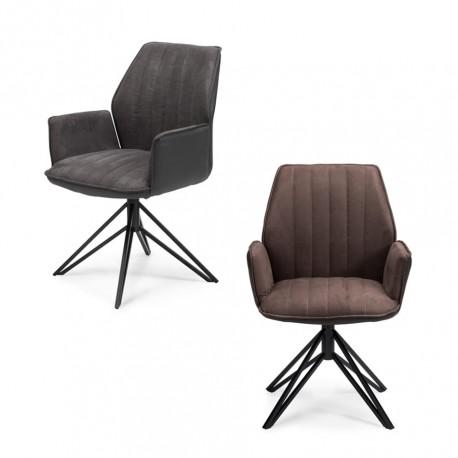 Conjunto dos sillas tapizadas (gris o marrón)