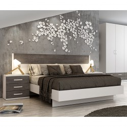Dormitorio Completo (cabezal, mesitas, bancada)
