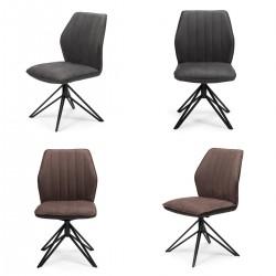 Pack 2 sillas tapizadas giratorias