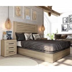 Dormitorio Completo: cabezal, canapé y mesitas