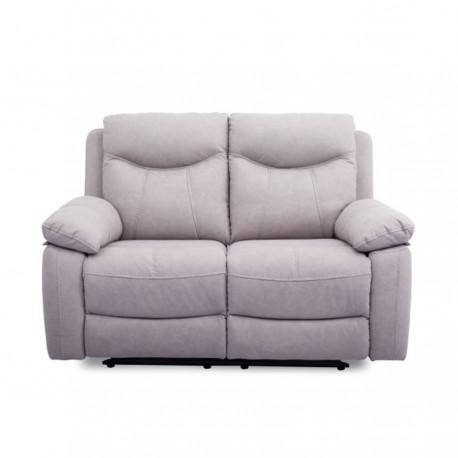 Sofá tapizado de dos plazas