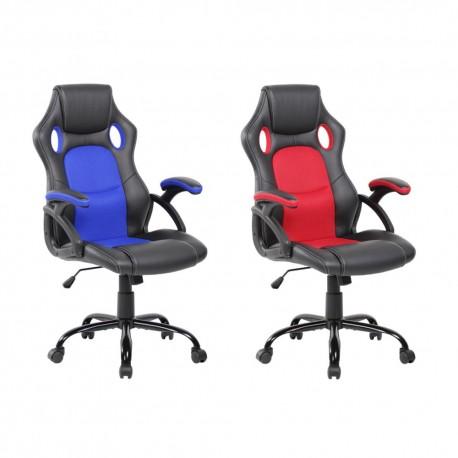 Silla oficina (azul o roja)