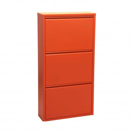 Mueble zapatero en metal color Naranja
