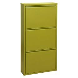 Mueble zapatero en metal verde