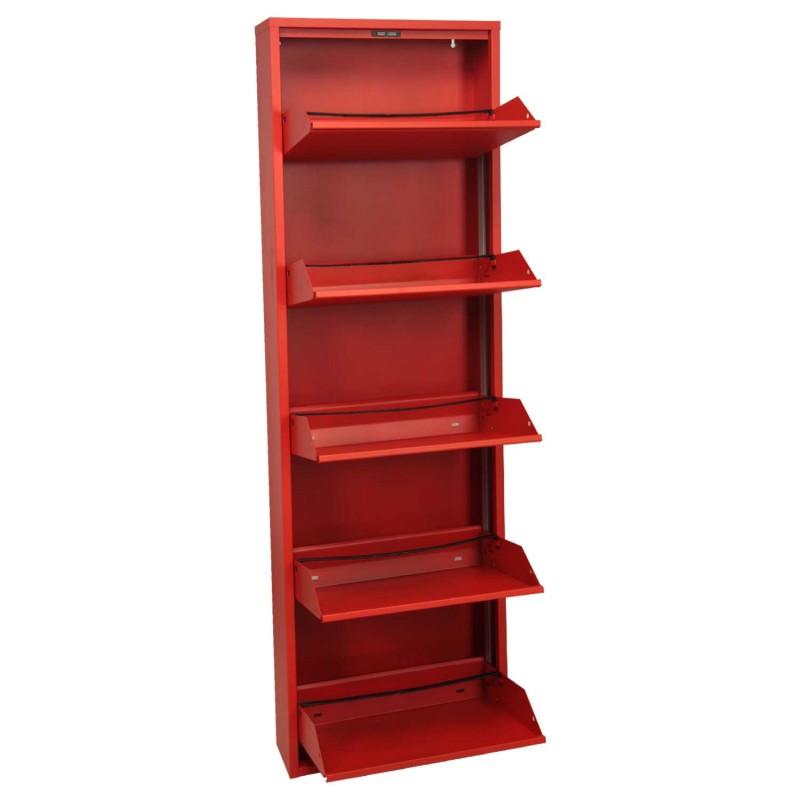 Muebles Metal : Mueble zapatero metal rojo