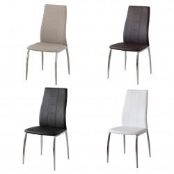 Conjunto seis sillas (polipiel o tela)