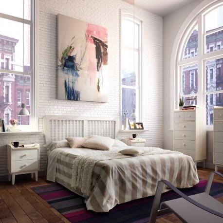 Dormitorio Vintage con Cabecero y mesitas