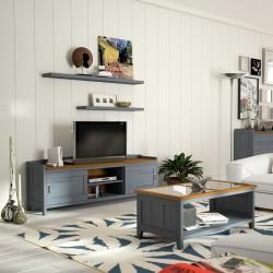 Mesa de TV de dos puertas
