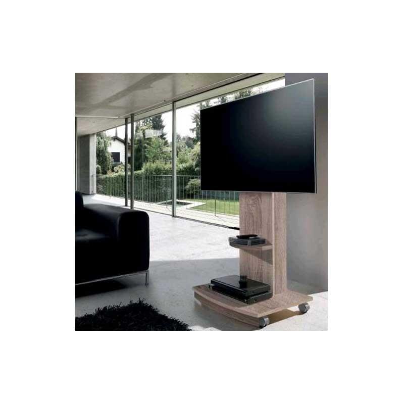 Soporte tv en color roble natural for Color roble natural