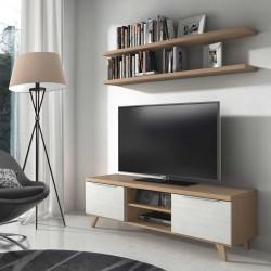 Mesa TV con dos puertas y patas