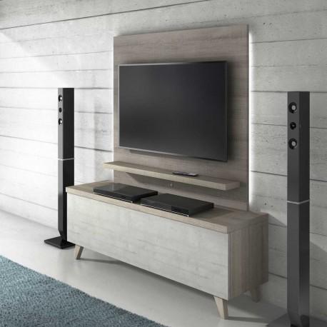 Módulo TV con luz y bajo contenedor
