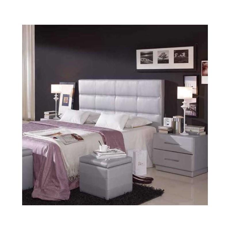 Cabezal tapizado en polipiel con dise o cuadros - Cabezal cama polipiel ...